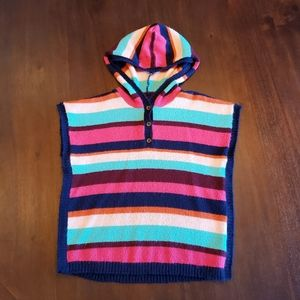 Carter's hooded sweater poncho size 7